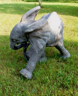 Ely baby Elephant Sculpture by Meg White