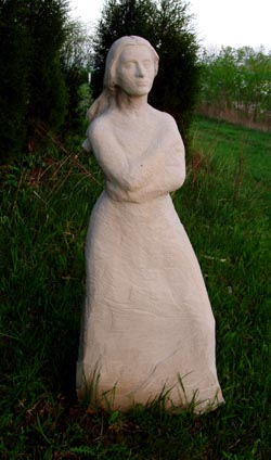 Miss Jessel sculpture for sale by Meg White